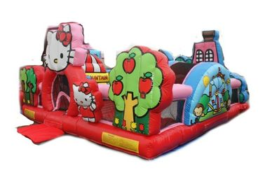 Hello Kitty Inflatable Toddler Playground With Slide , Commercial Adult Bouncy Castle