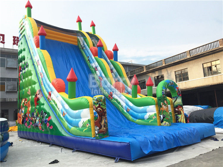 11X6X9 m Ticari Şişme Slide, PVC Branda Blow Up Jumping Castle