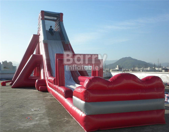 Fun Giant Red Hippo Water Slide / Inflatable Slip N Slide For Adult